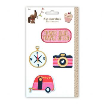 `travel´ patches set scrap coquette