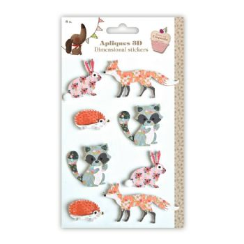3d animals decorated adhesives scrap coquette