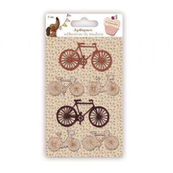 appliques and buttons bicycles