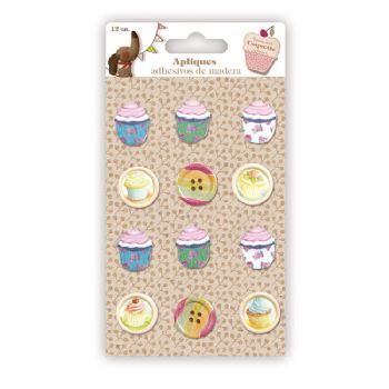 appliques and buttons cupcakes