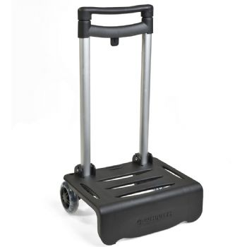 Black cart for backpacks