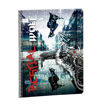 caderno a4 80 folhas bestial wolf