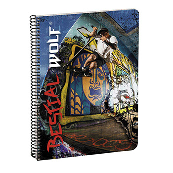 caderno a5 80 folhas bestial wolf