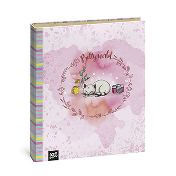 capa a4 argolas 5,5 cm pretty world