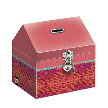 stationery sundry cardboard moneybox