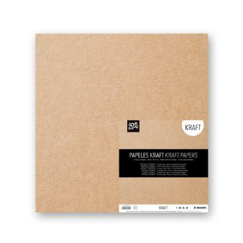 carta kraft scrapbook 30,5x30,5 scrap coquette