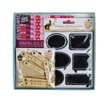 carte ed etichette decorate con scrapbooking scrap coquette