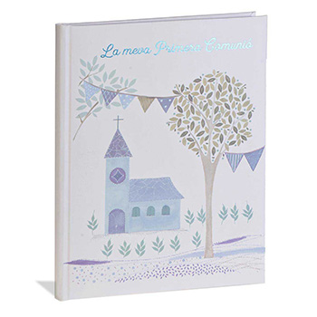 stationery scrapbook first communion catalan communion book