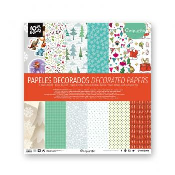 scrapbooking decorated papers coquette xmas papers