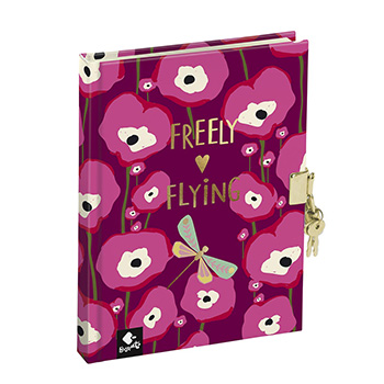 diary locked with pen freely