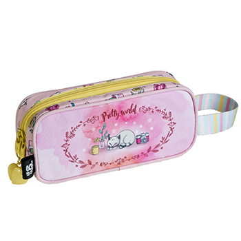 estuche 2 compartimentos pretty world