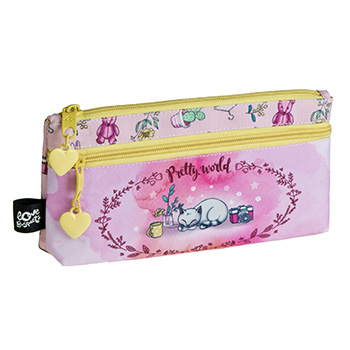 estuche escolar doble pretty world