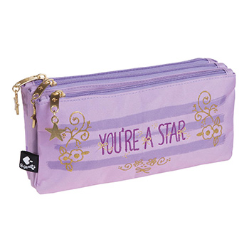 estuche escolar triple star