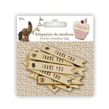 scrapbooking etiquetes etiquetes fusta - thank you