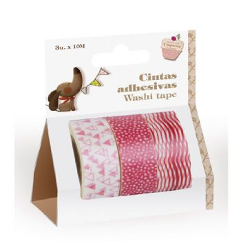 fitas adesivas 3-pack Washi tape