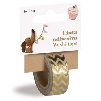 golde colored washi tape scrap coquette