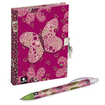 journal intime stylo patchwork