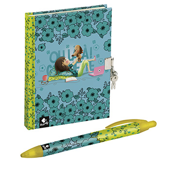 journal intime stylo coquette