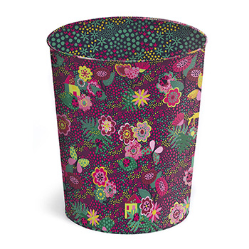 metal waste paper basket