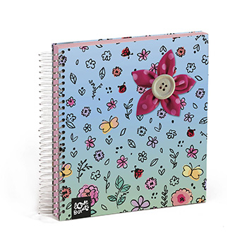 notebook 100 pages with stickers