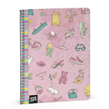 notebook a4 squared pages pretty world