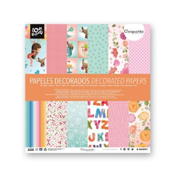 papel decorado coquette scrapbooking 30,5x30,5 scrap coquette