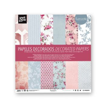 papel romantic de scrapbook 30,5x30,5 scrap coquette