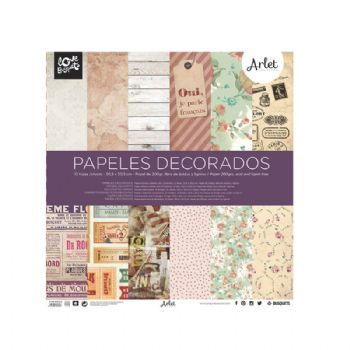 paper decorat arlet scrapbook 30,5x30,5 scrap coquette
