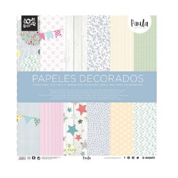 paper decorat paula scrapbook 30,5x30,5 scrap coquette