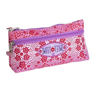 pencil case double zip sweet