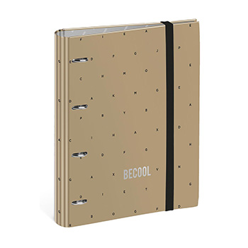 Ringbinder with rubber