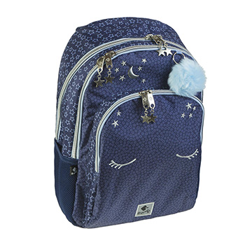 School backpack compartments