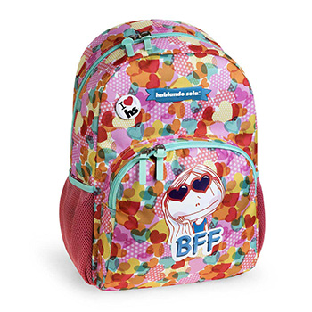 school backpack hablando sola