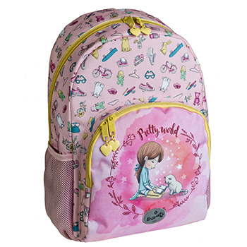 school backpack pretty world