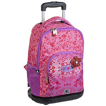 School backpack trolley