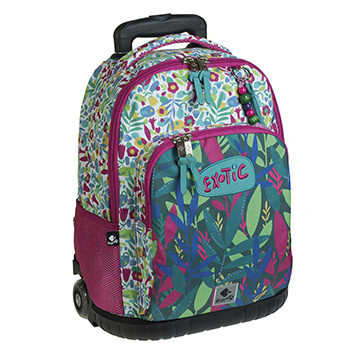 school backpack trolley exotic