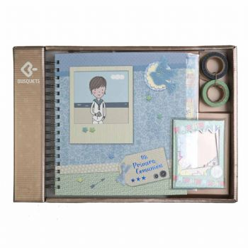 scrapbook album first communion boy blue 1st communion