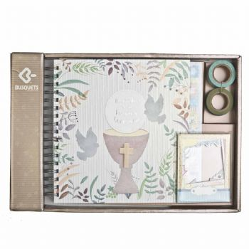 scrapbook album first communion chalice 1st communion