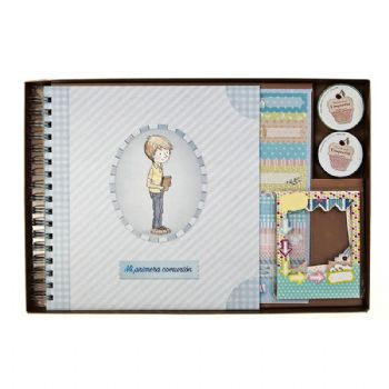 scrapbook album first communion classic boy 1st communion