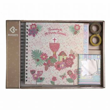 scrapbook album first communion girl chalice 1st communion