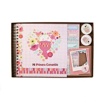 scrapbook album first communion girl folk 1st communion