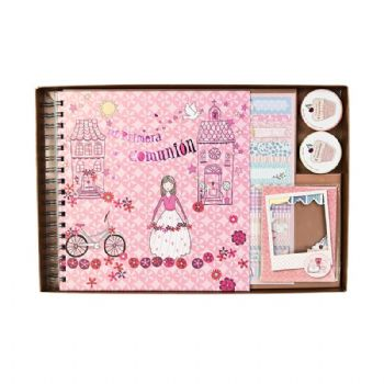 scrapbook album prima comunione ragazza magic prima comunione
