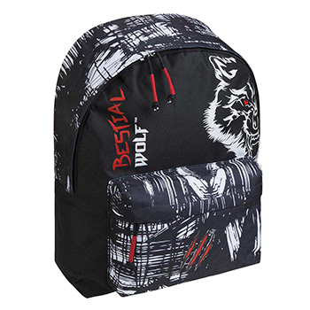 sportive backpack bestial wolf