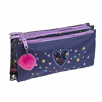 backpacks and accessorise pencil case triple pencil case