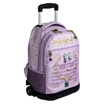 wheeled double backpack star