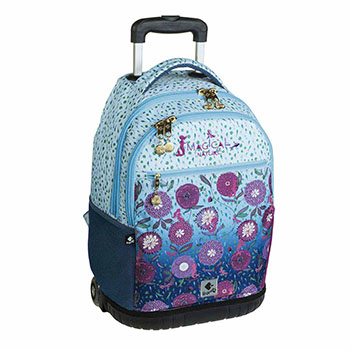 wheeled double backpack