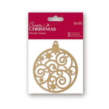 scrapbooking christmas wooden bauble