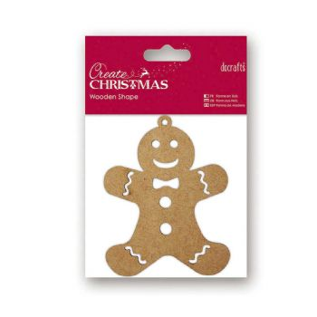scrapbooking christmas wooden gingerbread man