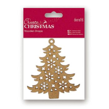 scrapbooking christmas wooden tree